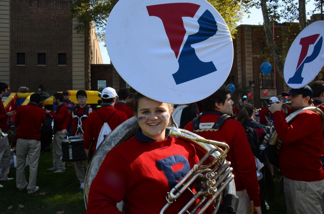 Jackie playing with the Penn Band