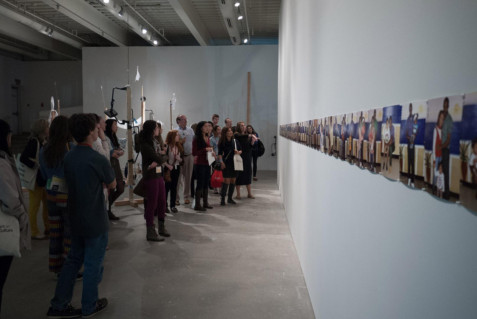 A tour going through the institute of contemporary art on Penn's campus