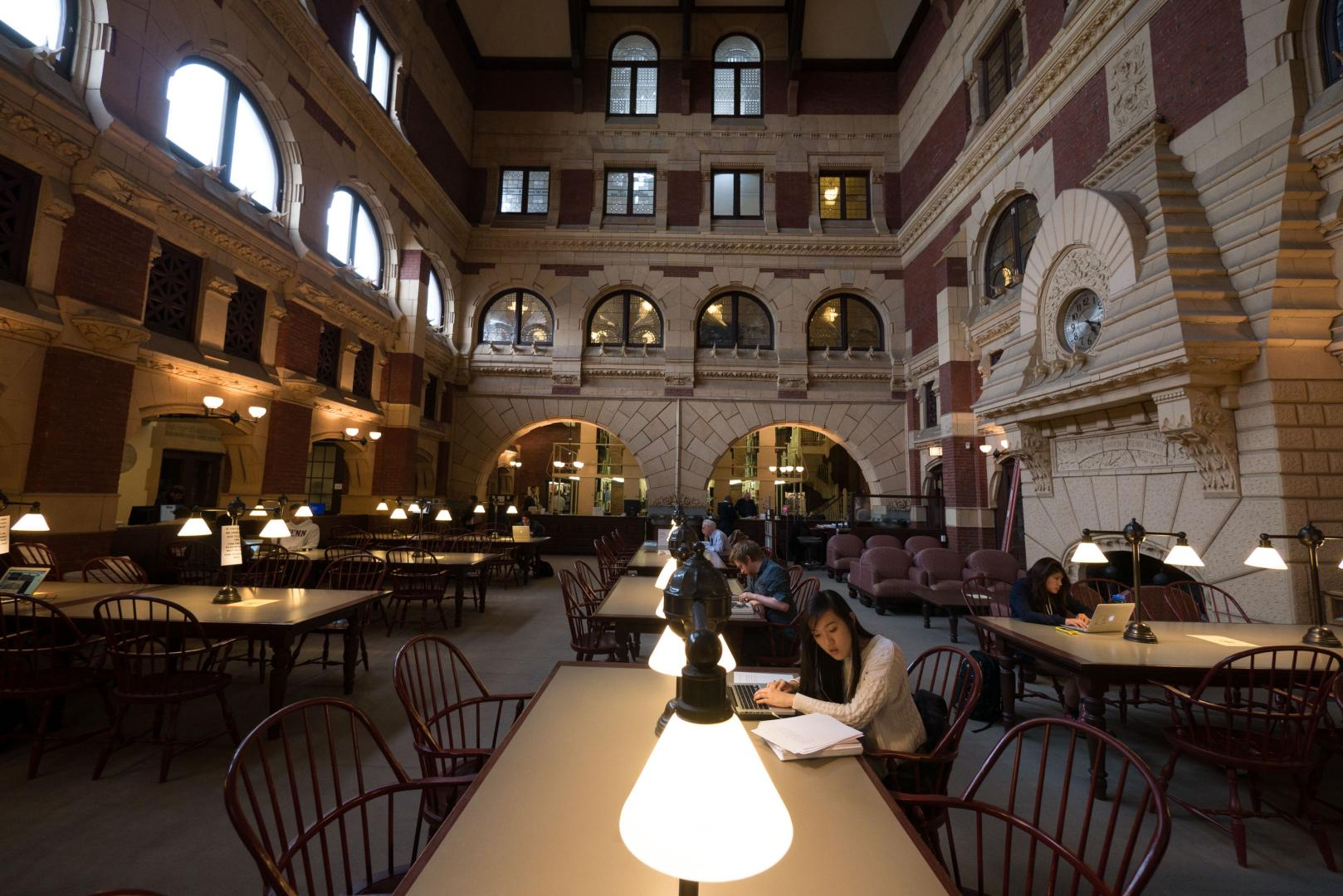 Fisher Fine Arts Library from the inside