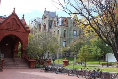 Fisher Fine Arts Library and College Hall
