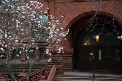 Entrance to Fisher Fine Arts