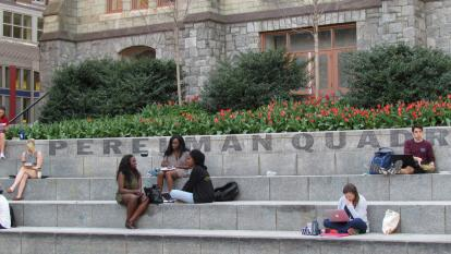 Students at Perelman Quad